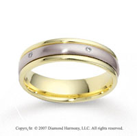 14k Two Tone Gold 5mm CF Diamond Anniversary Band